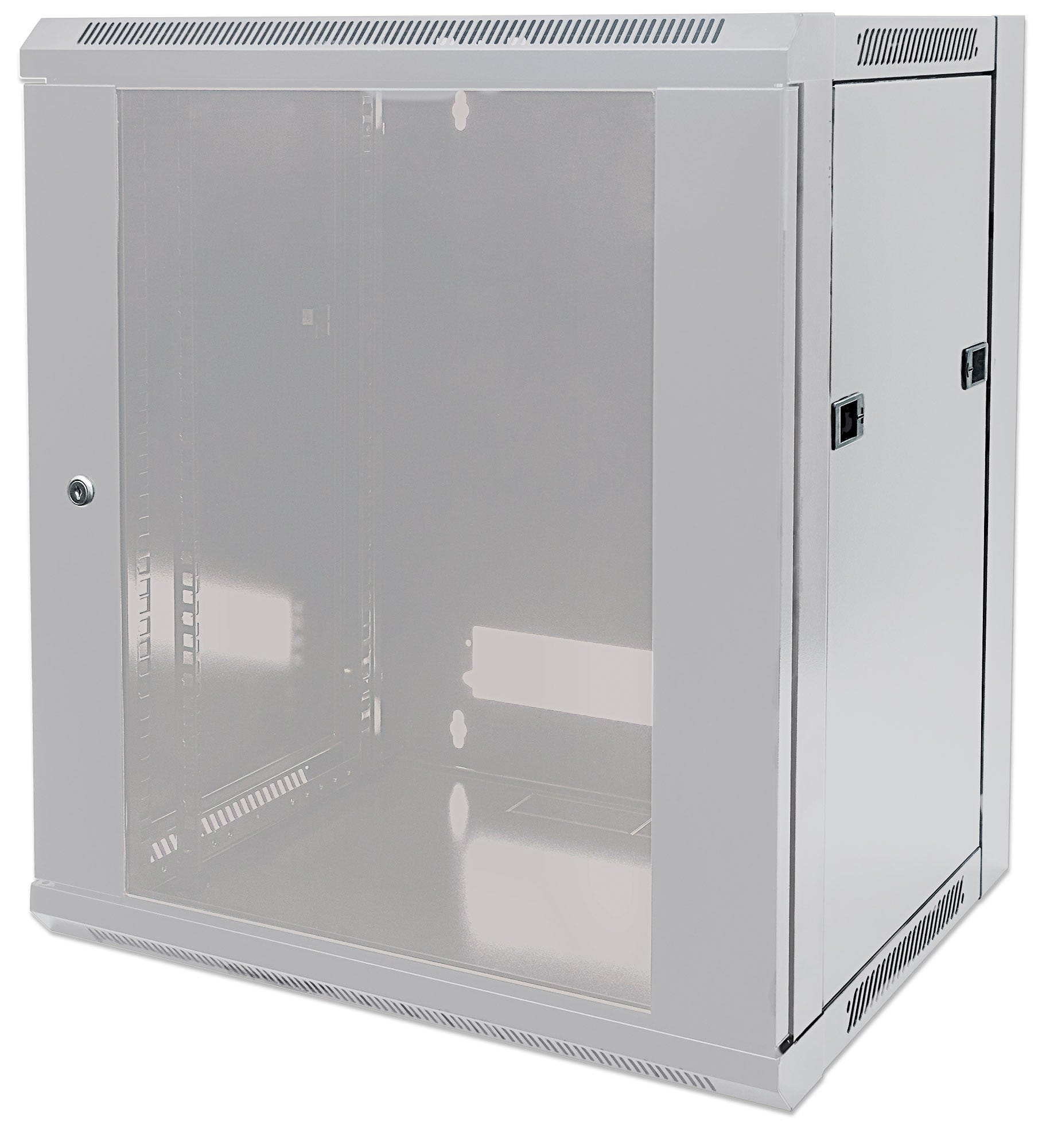 Intellinet 711784 - 9U - Wandmontiertes Regal - 60 kg - Grau - Geschlossen - Glas