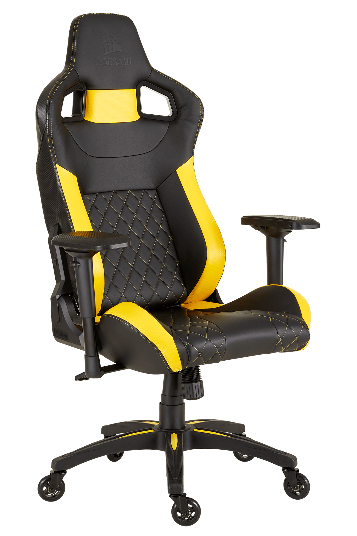 Corsair T1 Race - PC-Spielstuhl - 120 kg - Rennen - Nylon - Schwarz - Metall