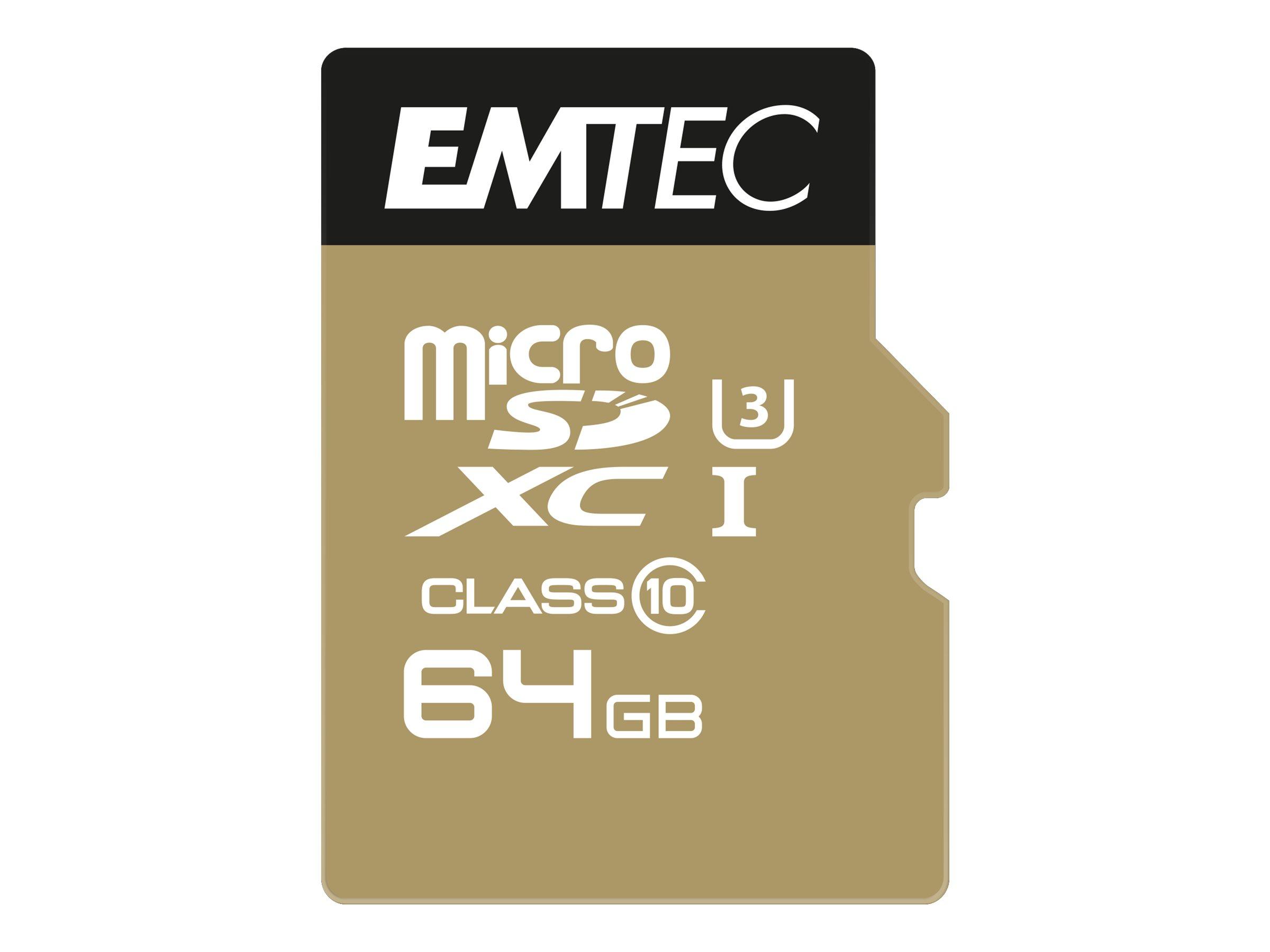 EMTEC SpeedIN' - Flash-Speicherkarte (microSDXC-an-SD-Adapter inbegriffen)