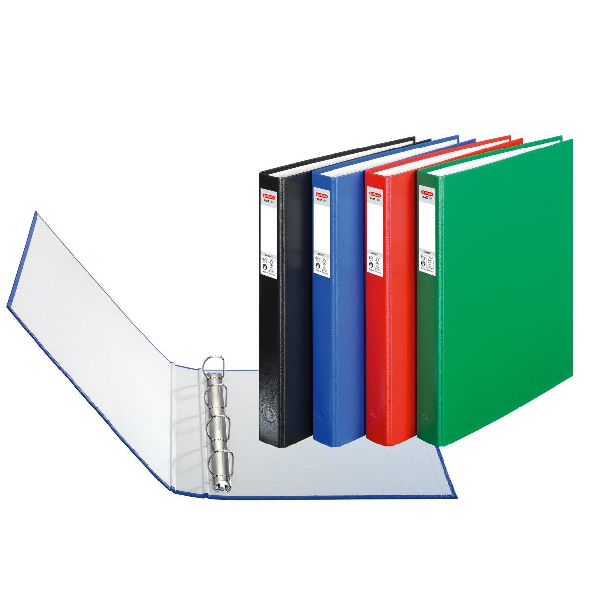 Vorschau: Herlitz maX.file - A4 - Halteöse - Lagerung - Schwarz - Blau - Grün - Rot - Weiß - 2,5 cm