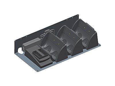 HONEYWELL Datamax Multi-Bay Charging Kit, RL series, 3-Upright Unit & 2 Battery Depot Charger