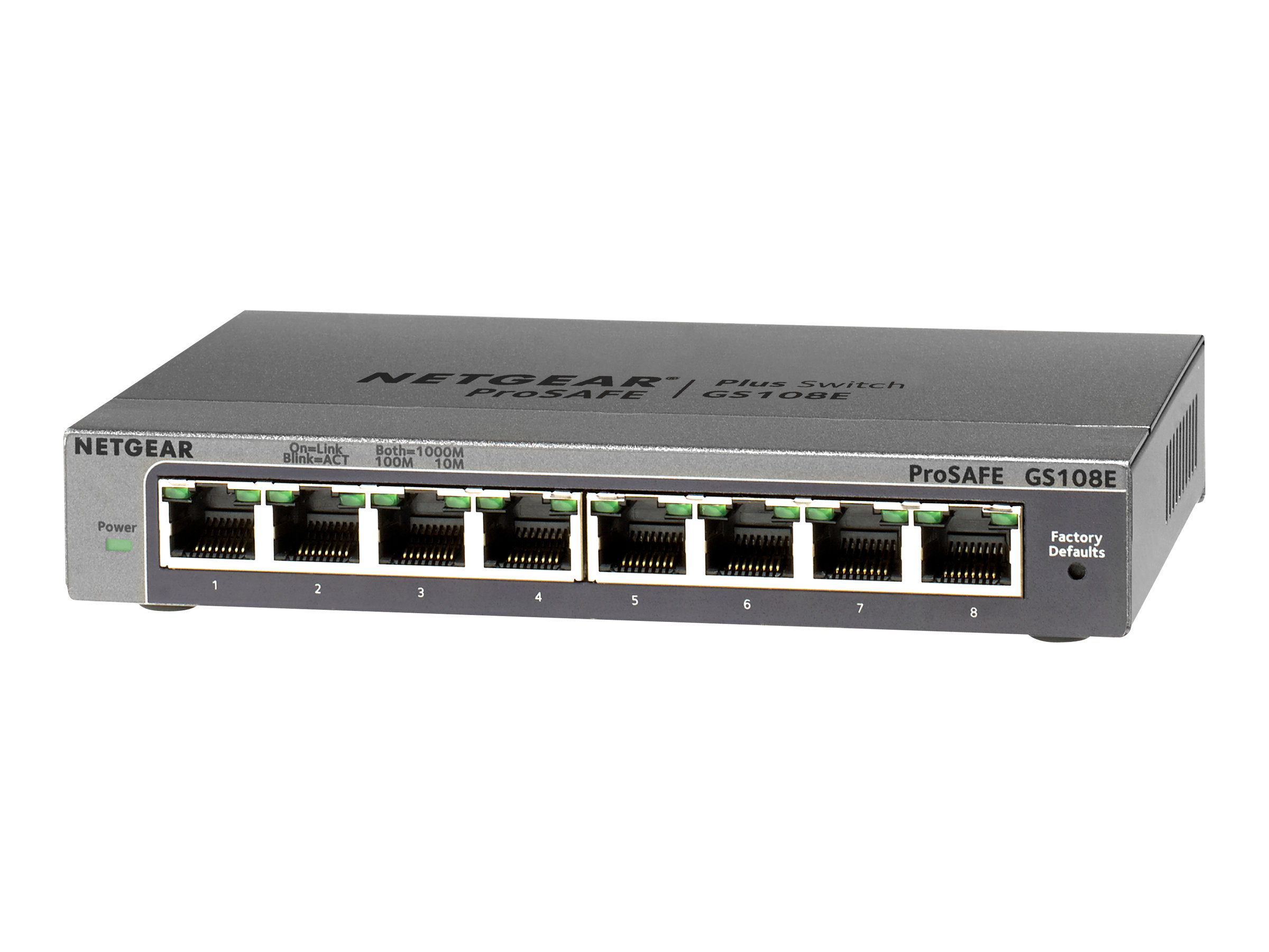Netgear Plus GS108Ev3 - Switch - 8 x 10/100/1000
