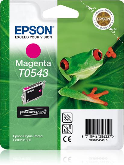 Epson-C13T05434020-Frog-Singlepack-Magenta-T0543-Ultra-Chrome-Hi-Gloss thumbnail 2