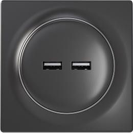 Vorschau: Fibaro FGWU-021-8 - 2x USB - 0 - 40 °C - 0 - 90% - Schwarz - 100 - 240 V - 50/60 Hz