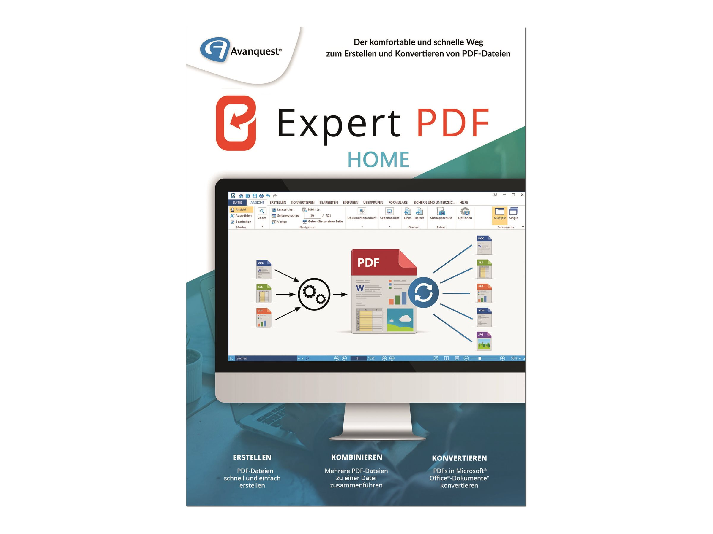 Avanquest Software eXPert PDF Home - (v. 14) - Lizenz - 1 Benutzer