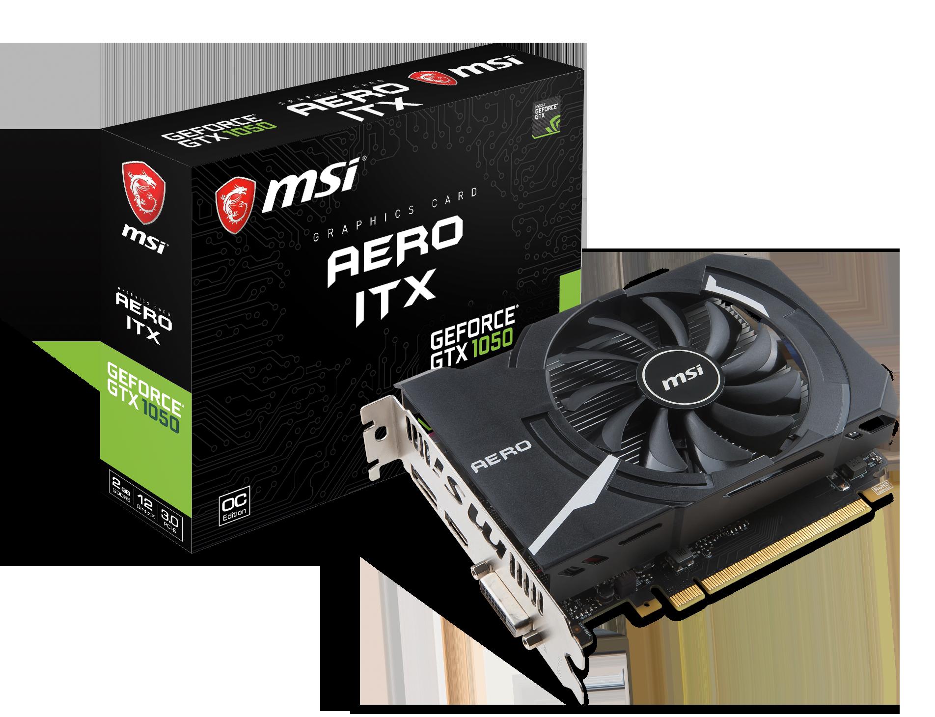 MSI GeForce GTX 1050 AERO ITX 2G OC - VGA - PCI-E x16