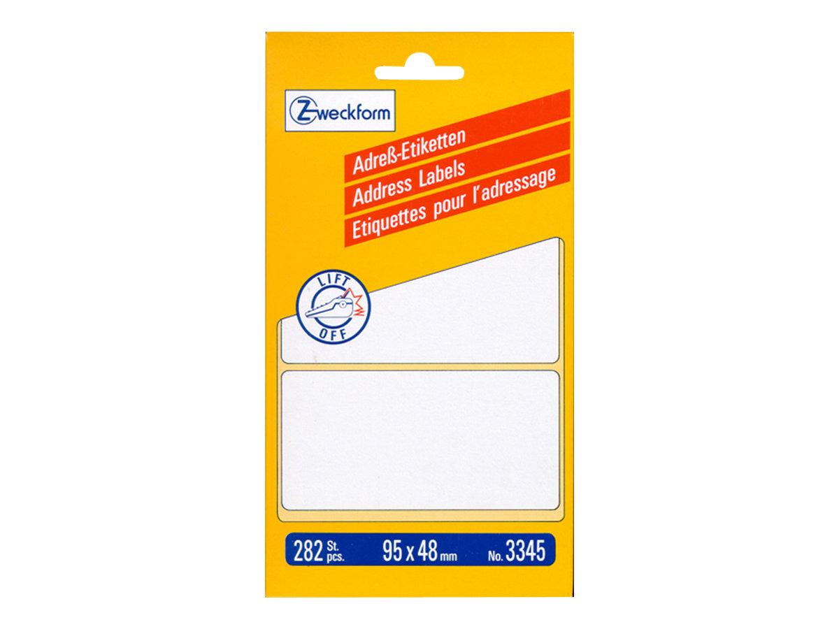 Avery Zweckform 95 x 48 mm 282 Etikett(en) Adressetiketten