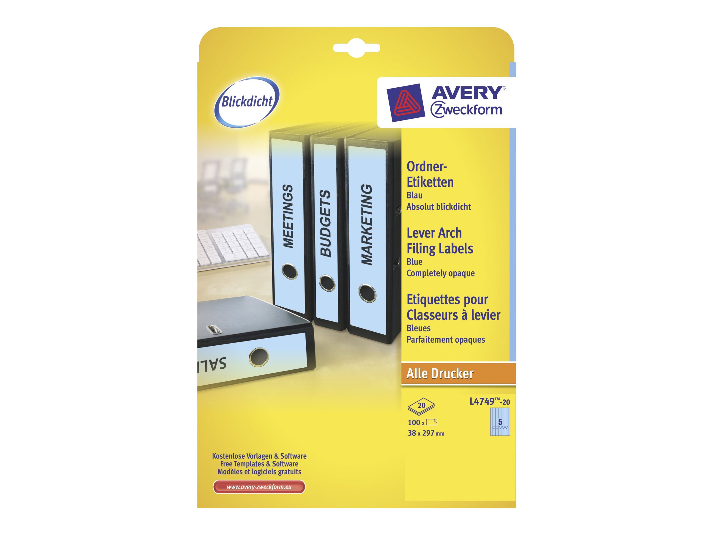 Avery Zweckform File Folder Labels - Aktenetiketten