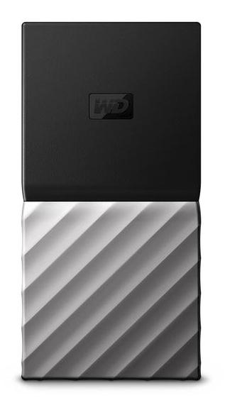 WD My Passport SSD - 2000 GB - USB Typ-C - 3.2 Gen 1 (3.1 Gen 1) - 540 MB/s - Schwarz - Silber
