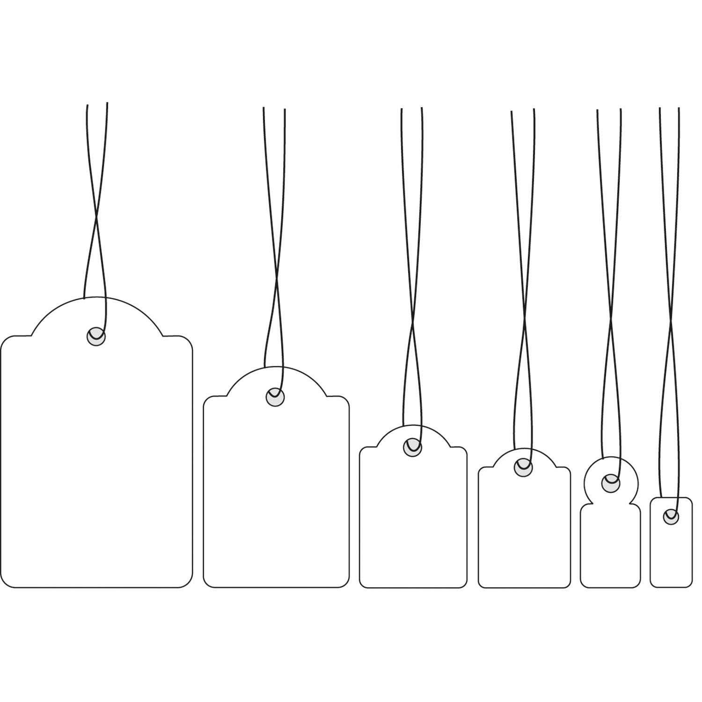 HERMA Strung marking tags - Weiß - 15 x 24 mm