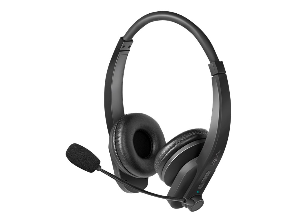 LogiLink Headset - On-Ear - Bluetooth - kabellos
