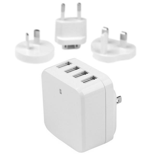 StarTech.com 4-Port USB Wall Charger - International Travel - 34W/6.8A