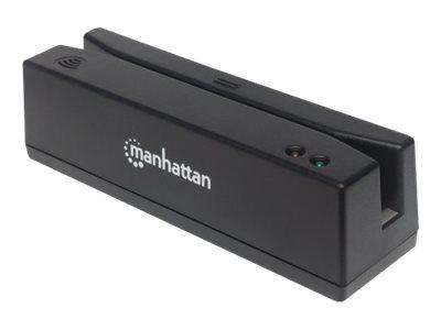 Manhattan USB-Magnetkartenleser, USB-A-Stecker, 3-Spuren-Leser - Magnetkartenleser (Spuren 1, 2 & 3)