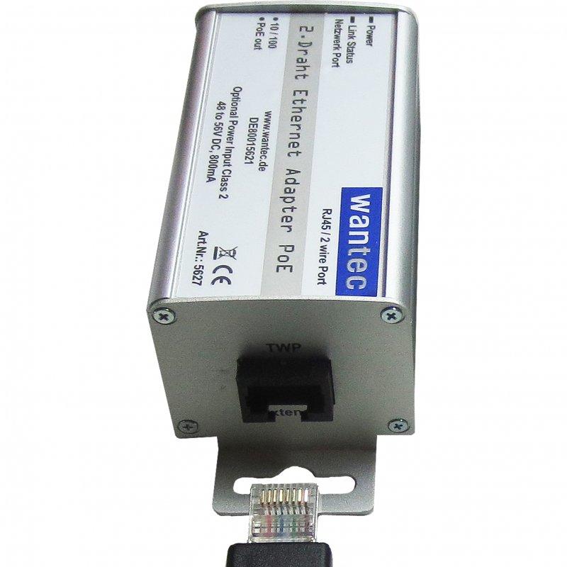 WANTEC 5627 - Schnelles Ethernet - 10,100 Mbit/s - Schwarz - 1 Stück(e)