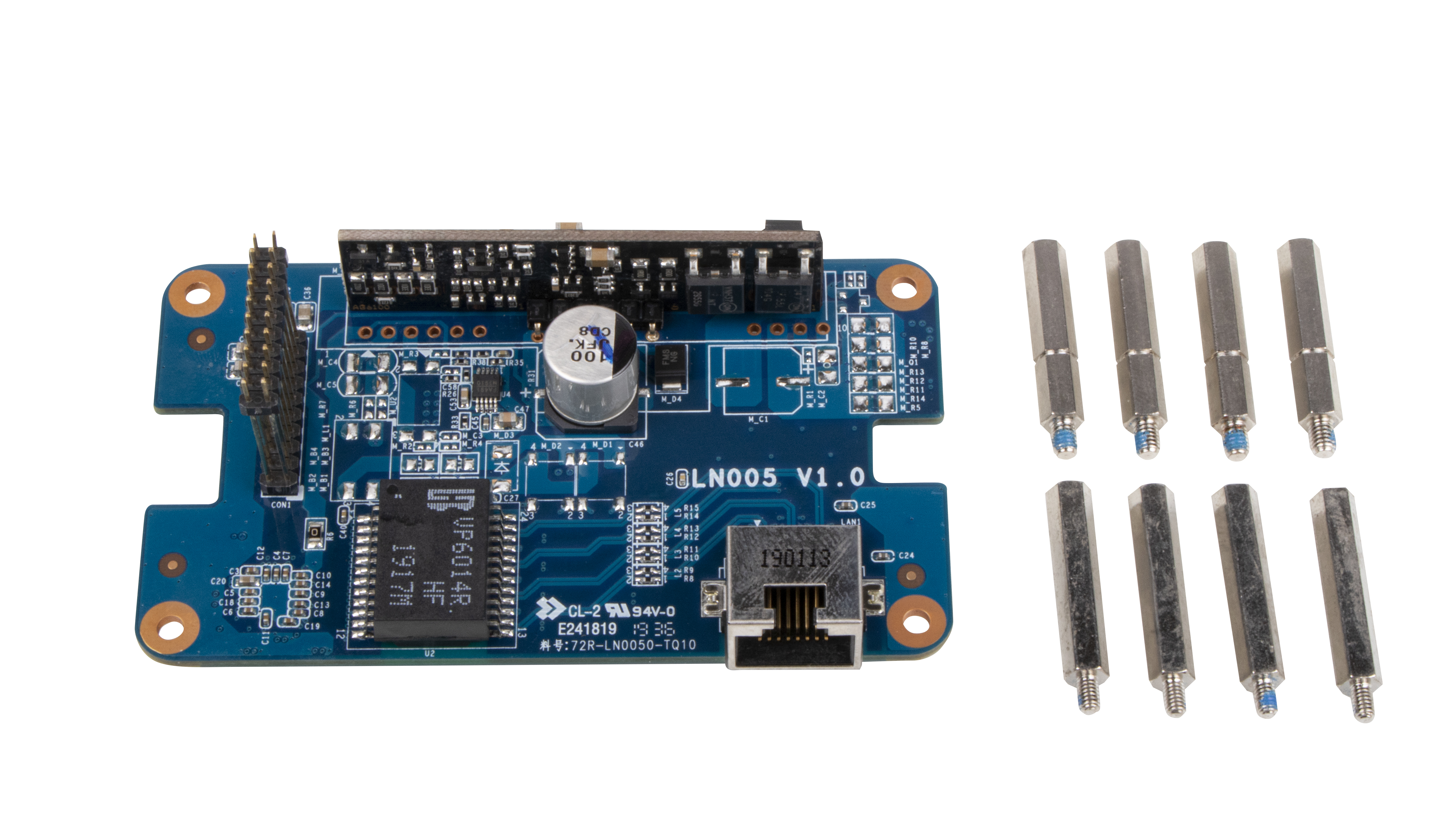 Shuttle PSE01 Gigabit LAN with PoE Output (Power Out) - Eingebaut - Verkabelt - Ethernet - Schwarz - Blau