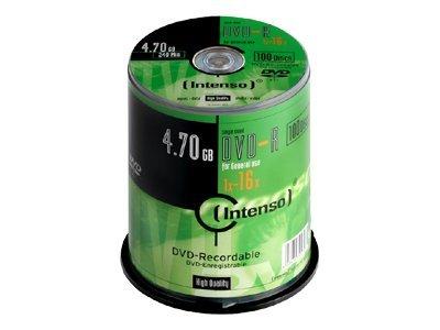 Intenso 100 x DVD-R - 4.7 GB 16x - Spindel