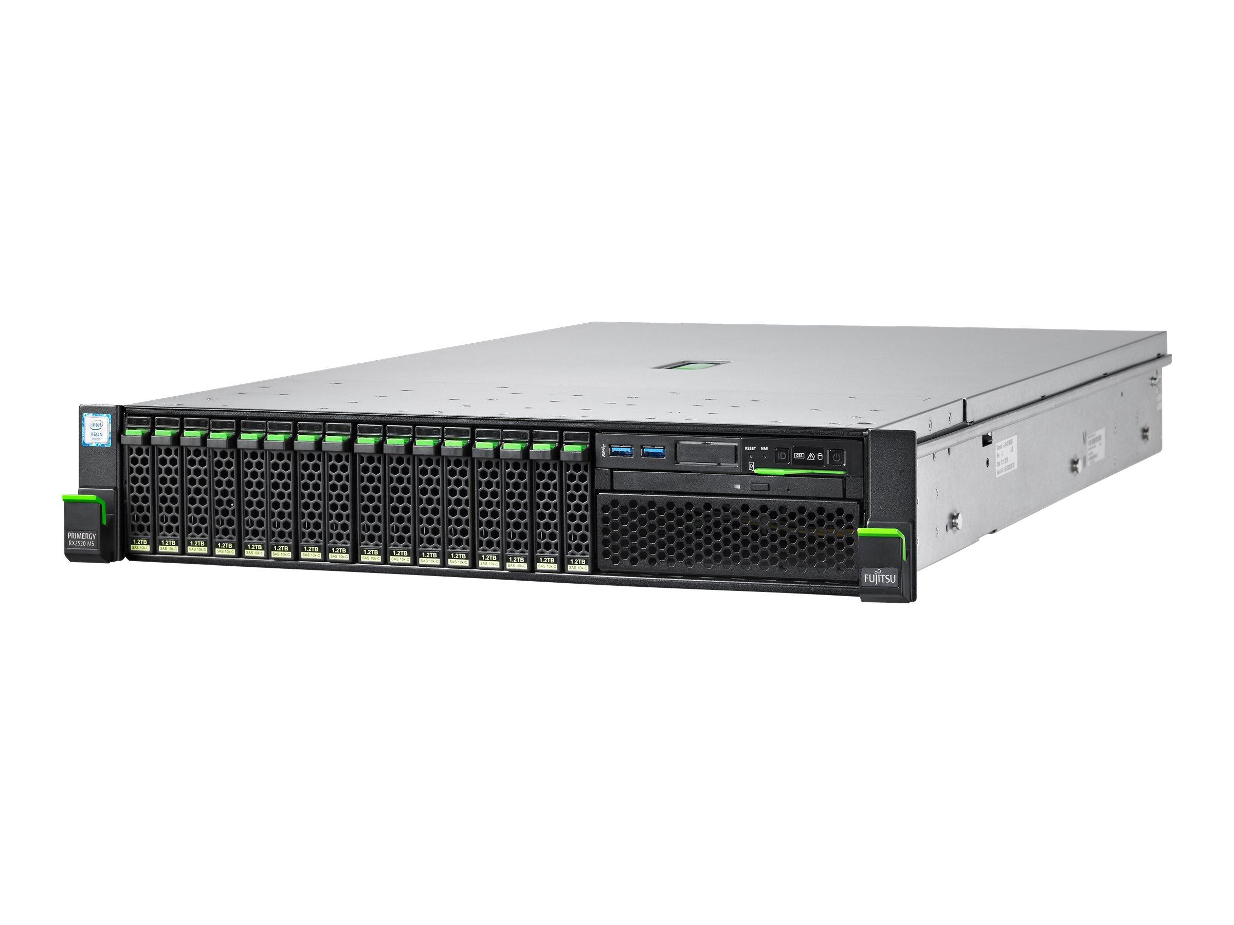 "Fujitsu PRIMERGY RX2520 M5 - Server - Rack-Montage - 2U - zweiweg - 1 x Xeon Silver 4208 / 2.1 GHz - RAM 16 GB - SATA - Hot-Swap 6.4 cm (2.5"")"
