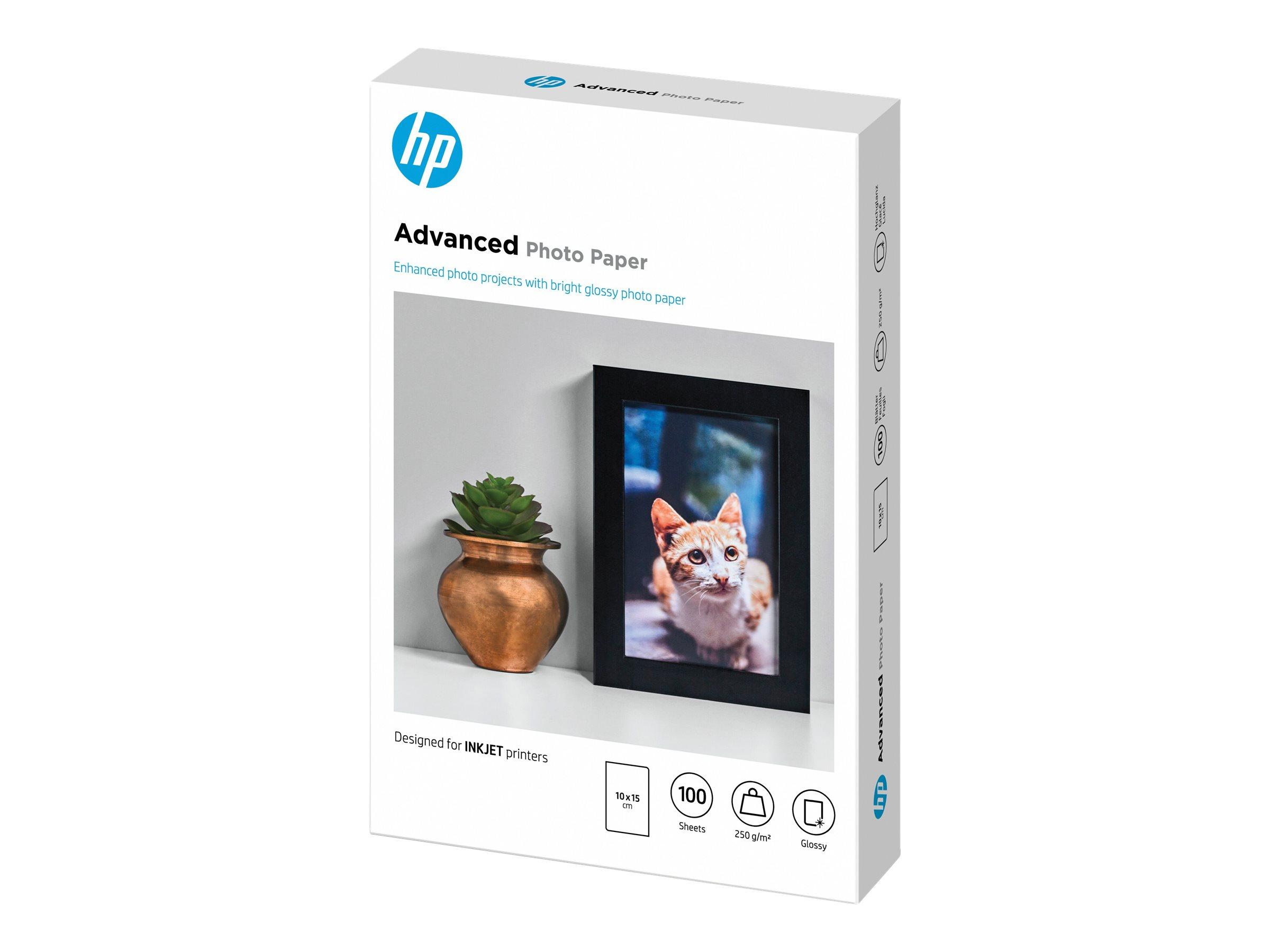 HP Advanced Glossy Photo Paper - Glänzend - 100 x 150 mm