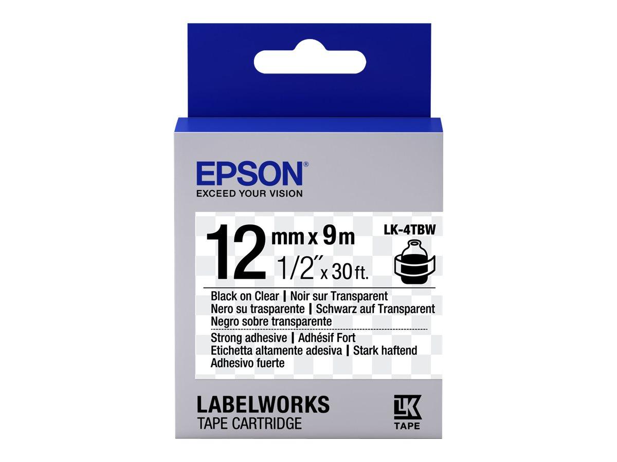 Epson LabelWorks LK-4TBW - Schwarz auf durchsichtig