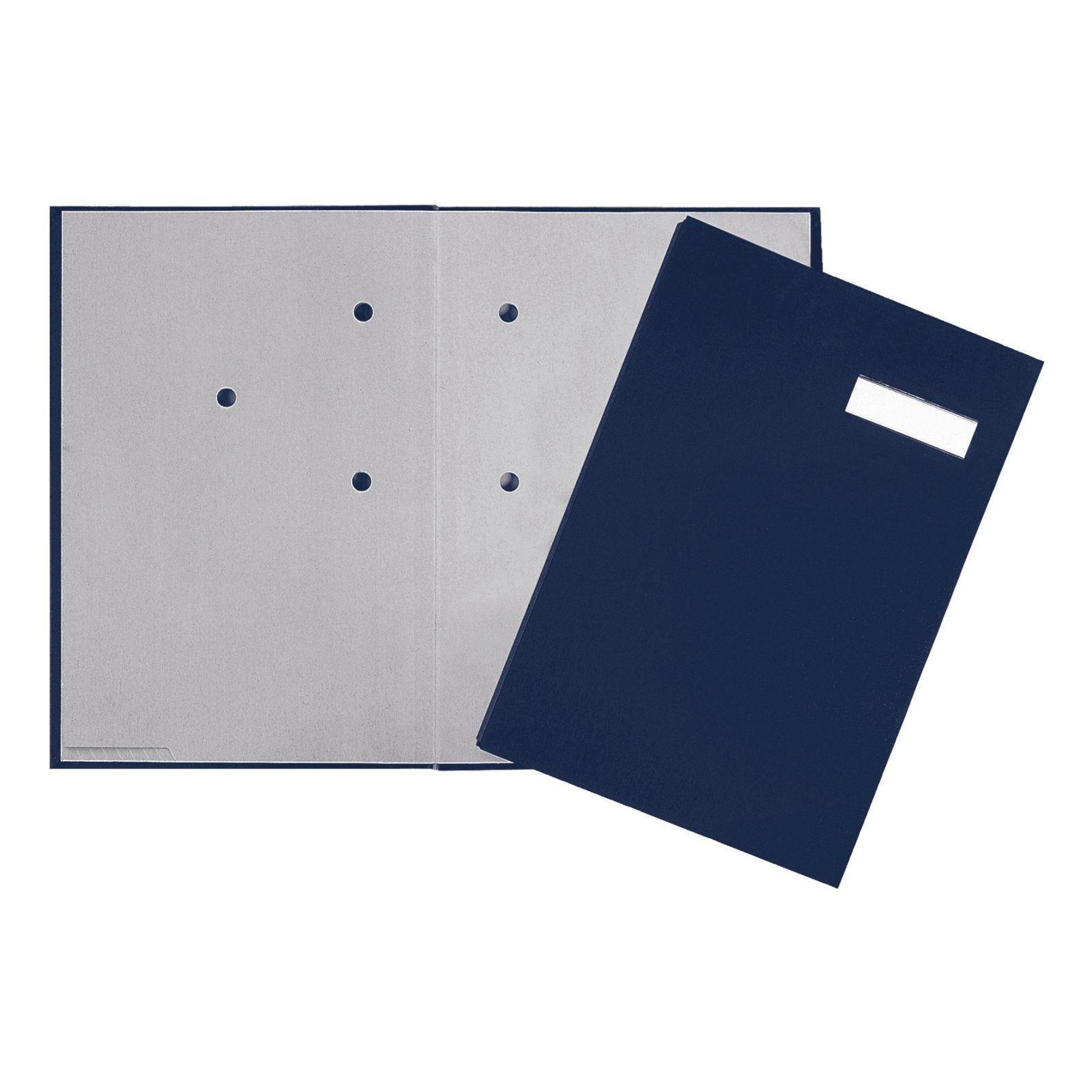 Pagna Unterschriftsmappe 20 Fächer - A4 - Karton - Blau - Weiß - Porträt - 240 mm - 25 mm