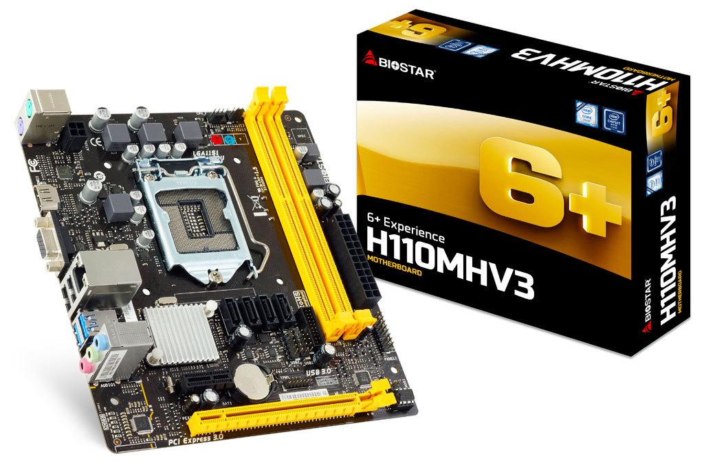 Biostar H110MHV3 - Intel - LGA 1151 (Socket H4) - Intel® Pentium® - 91 W - DDR3-SDRAM - DIMM