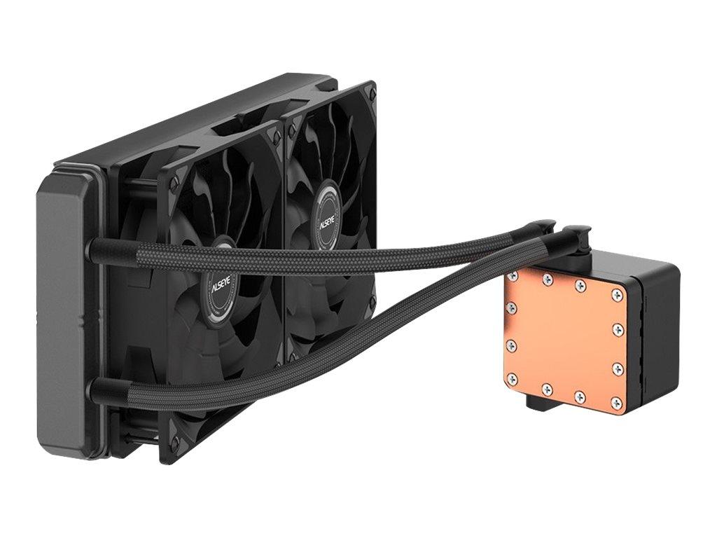 Vorschau: Inter-Tech ALSEYE Max 240 - Prozessor-Flüssigkeitskühlsystem - (für: LGA775, LGA1156, AM2, AM2+, LGA1366, AM3, LGA1155, AM3+, LGA2011, FM1, FM2, LGA1150, LGA1151, AM4, LGA2066 (Square ILM)