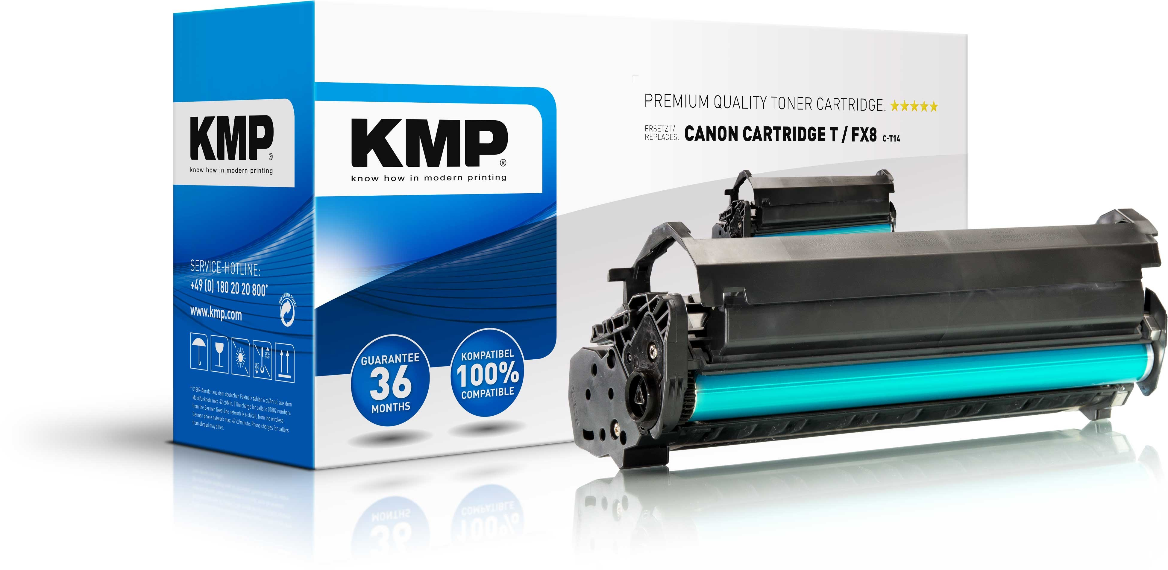 KMP Schwarz - compatible - Tonerpatrone - für Canon FAX L380