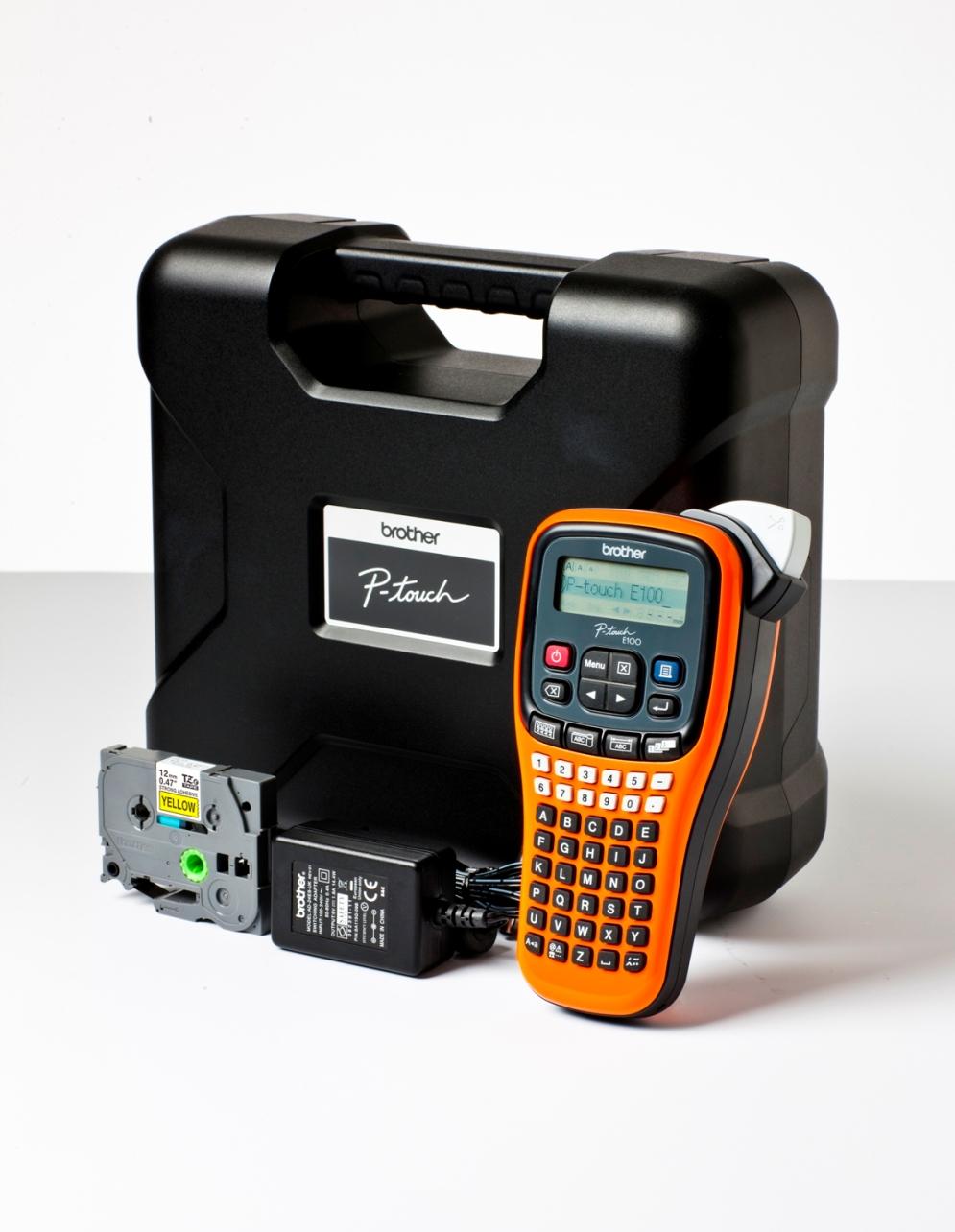 Brother P-touch E100VP Beschriftungsgerät - Etiketten-/Labeldrucker - Nadel/Matrixdruck