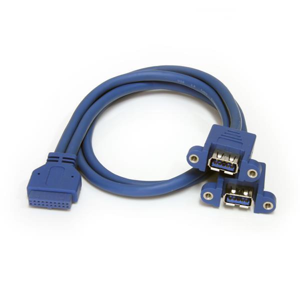 StarTech.com 2 Port USB 3.0 Pinheader Kabel - USB A auf Mainboard Header Kabel - Bu/Bu