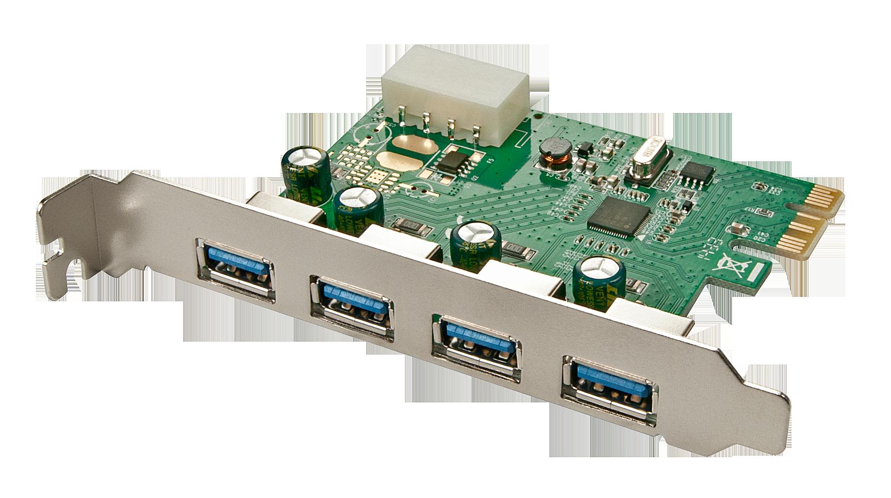 Lindy 4 Port USB 3.0 PCIe Card - USB-Adapter - PCI Express 2.0 x1