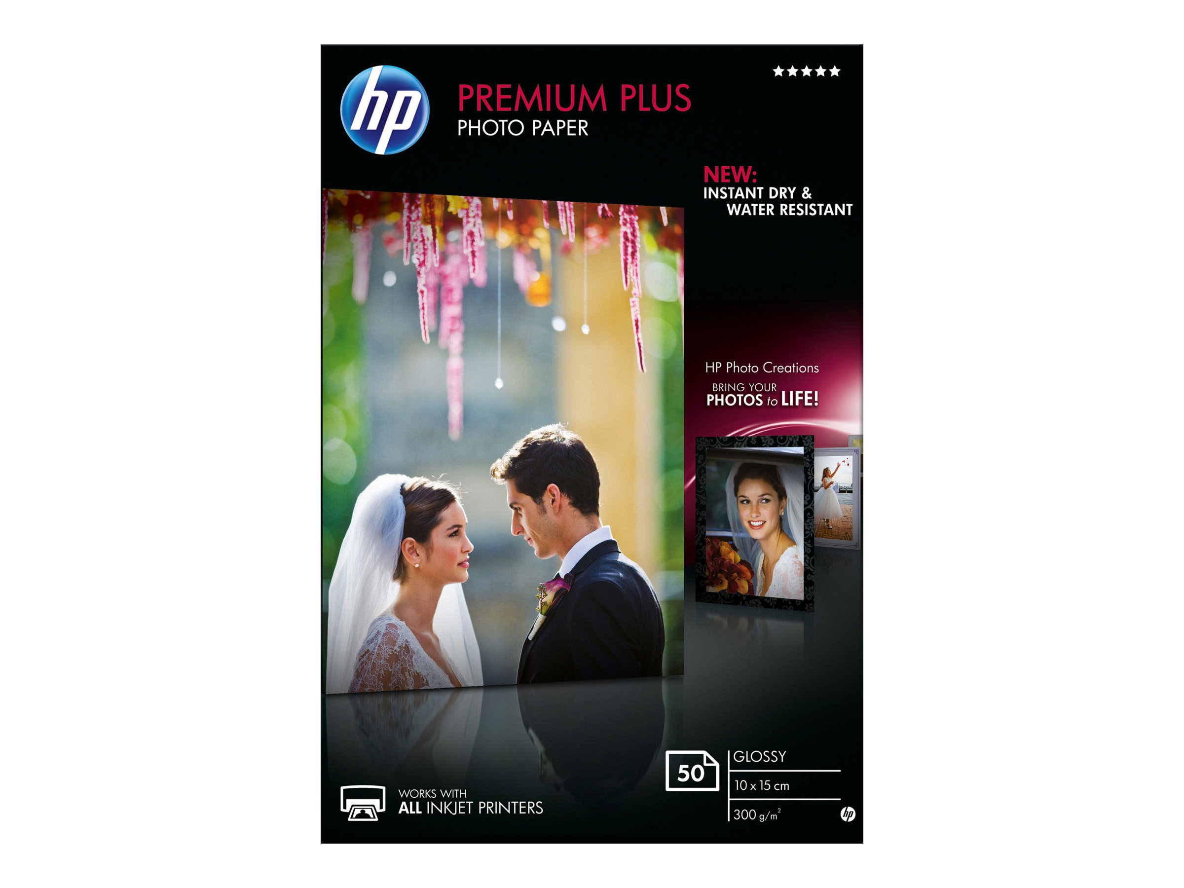 HP Premium Plus Photo Paper - Glänzend - 100 x 150 mm