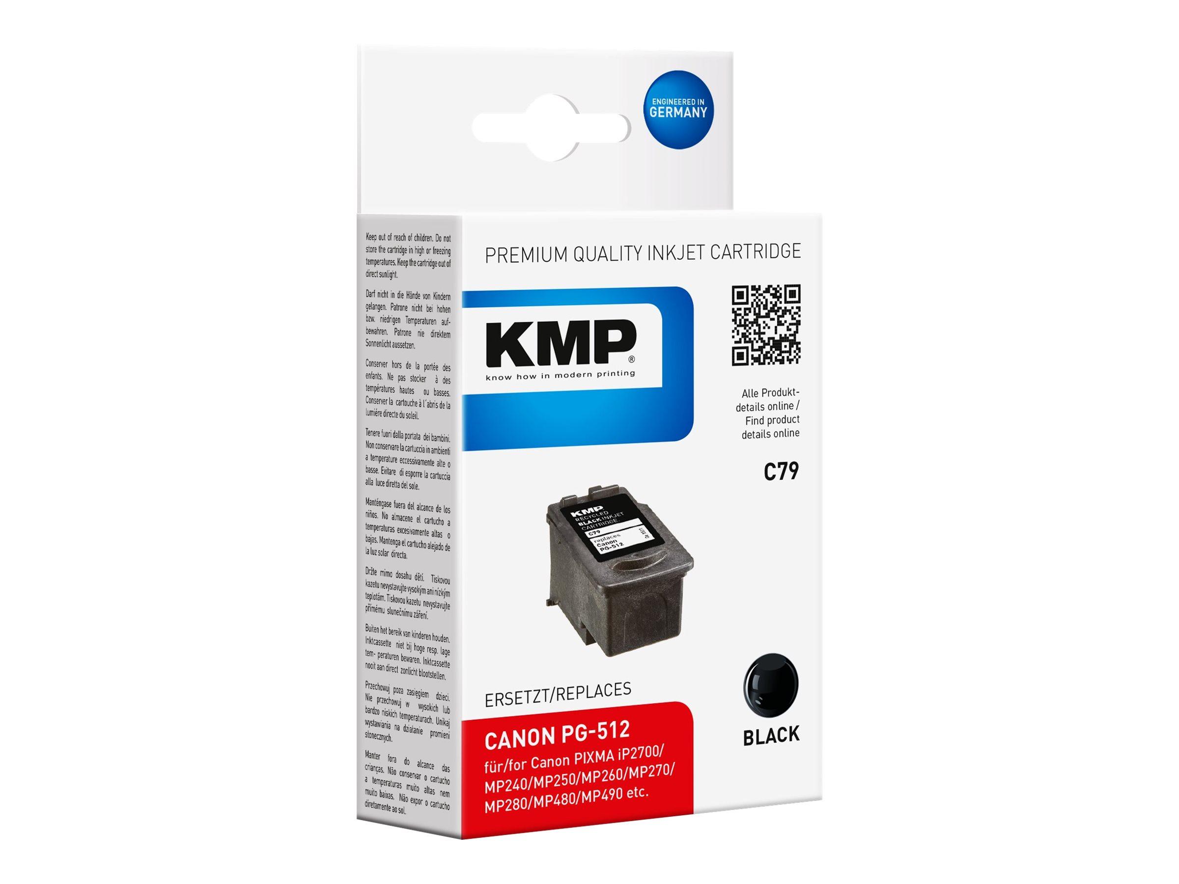 KMP C79 - 15 ml - Schwarz - compatible - Tintenbehälter