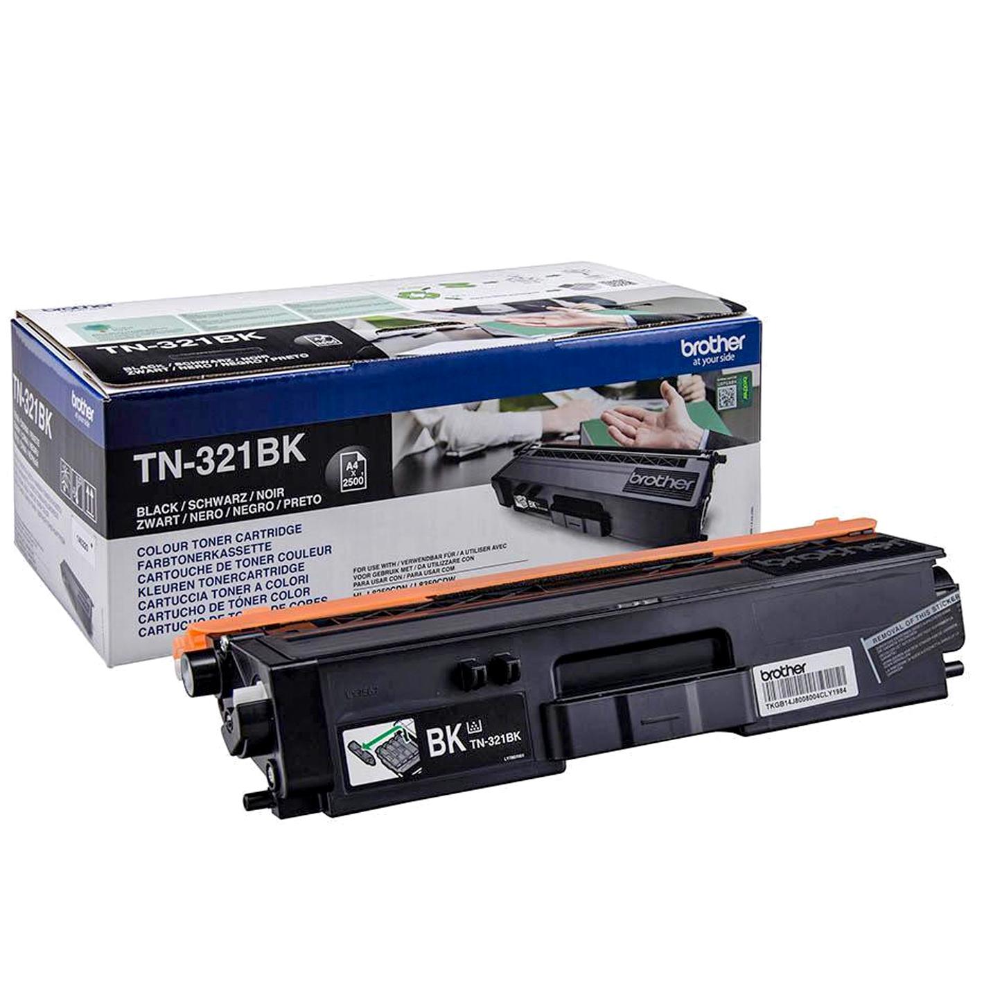 Brother TN321BK - Sort - original - tonerpatron - for Brother DCP-L8400, DCP-L8450, MFC-L8650, MFC-L8850; HL-L8250, L8350