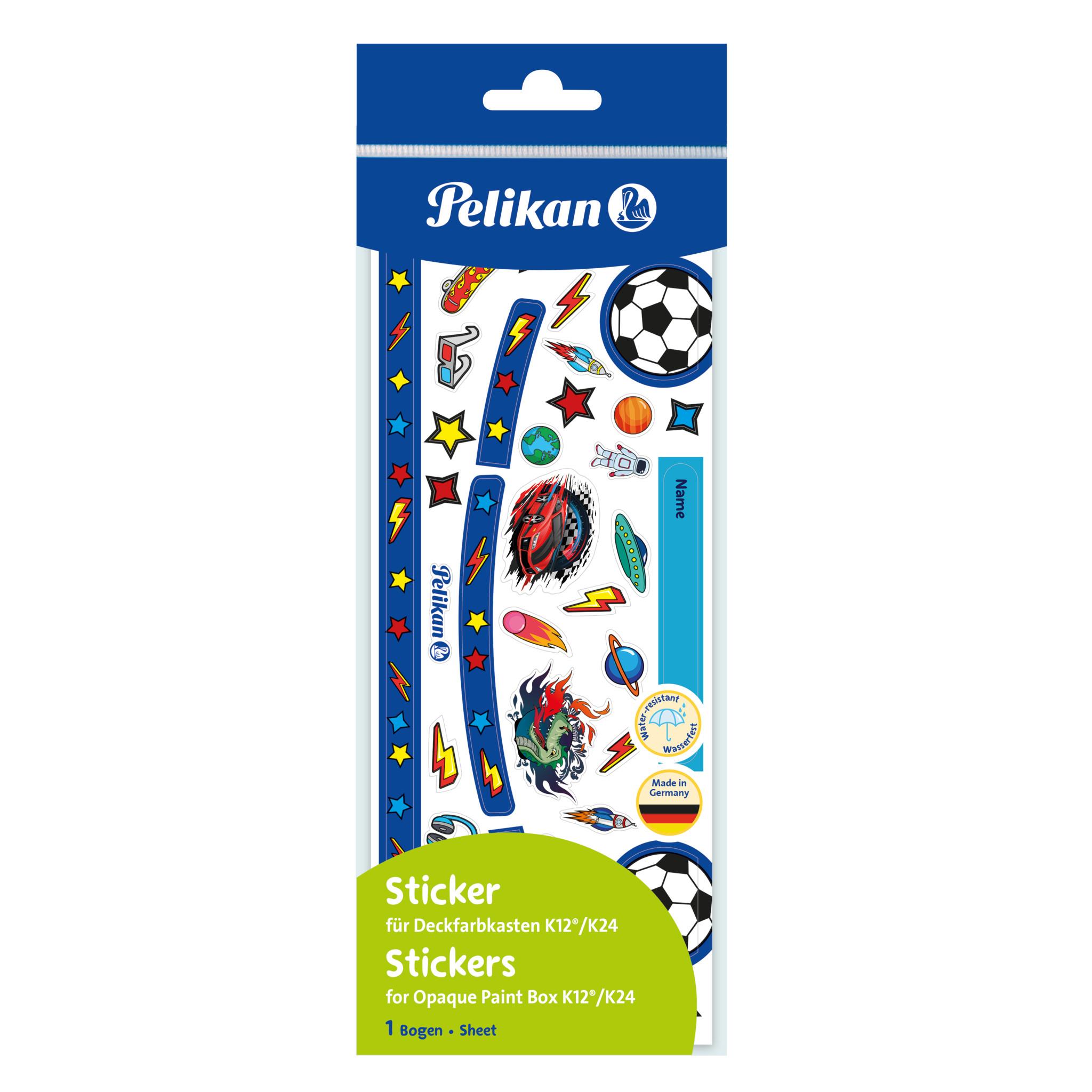 Pelikan Sticker für K12/K24 Deckfarbkasten Blau/Fussball