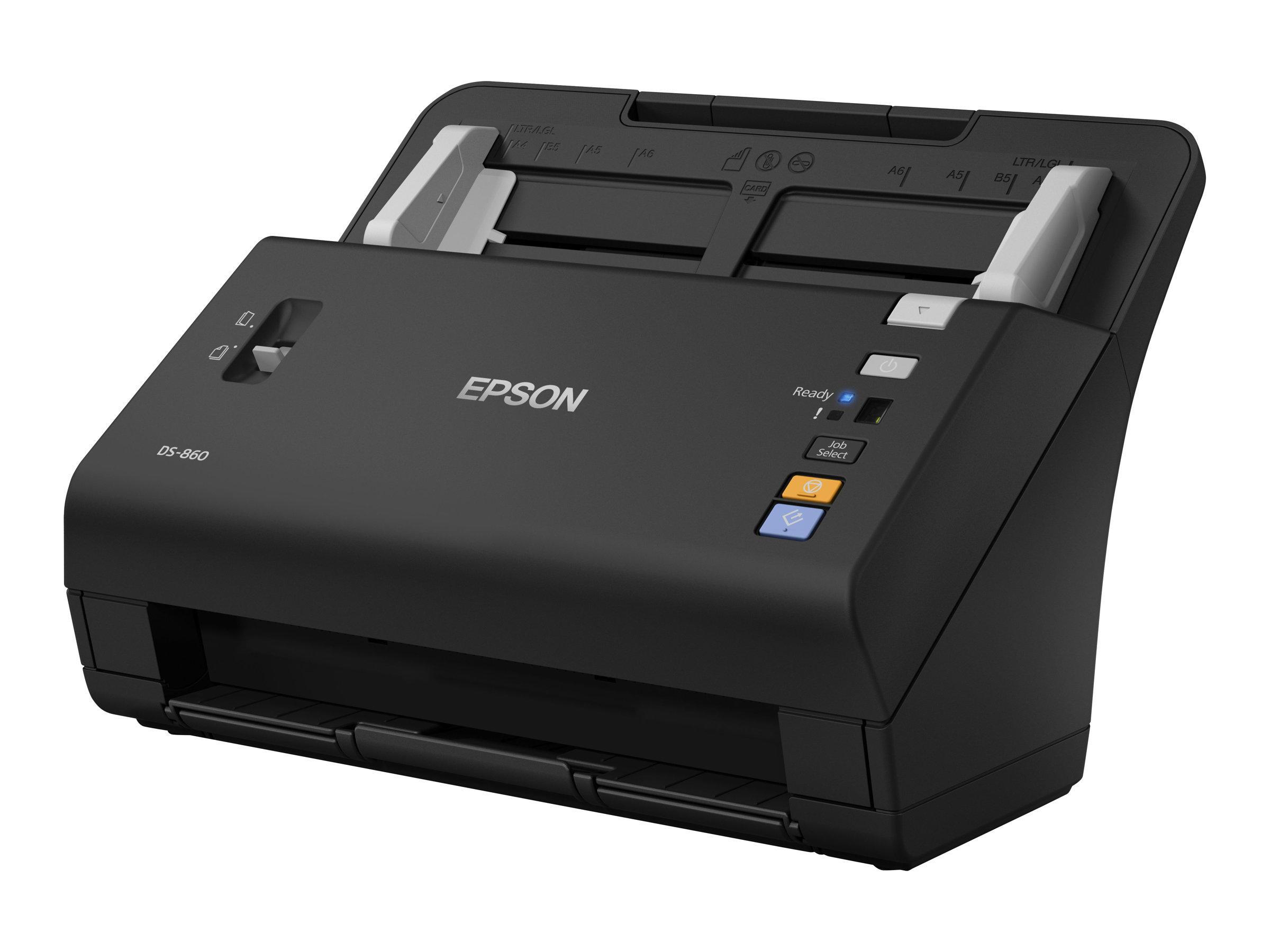 Epson WorkForce DS-860N - Dokumentenscanner - Duplex - A4 - 600 dpi x 600 dpi - bis zu 65 Seiten/Min. (einfarbig)