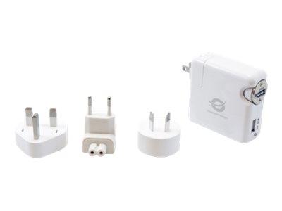 Conceptronic CUSBCHARKIT Universal USB Travel Charger kit - Netzteil - 2.1 A - 2 Ausgabeanschlussstellen (USB, Zigarettenanzünden)