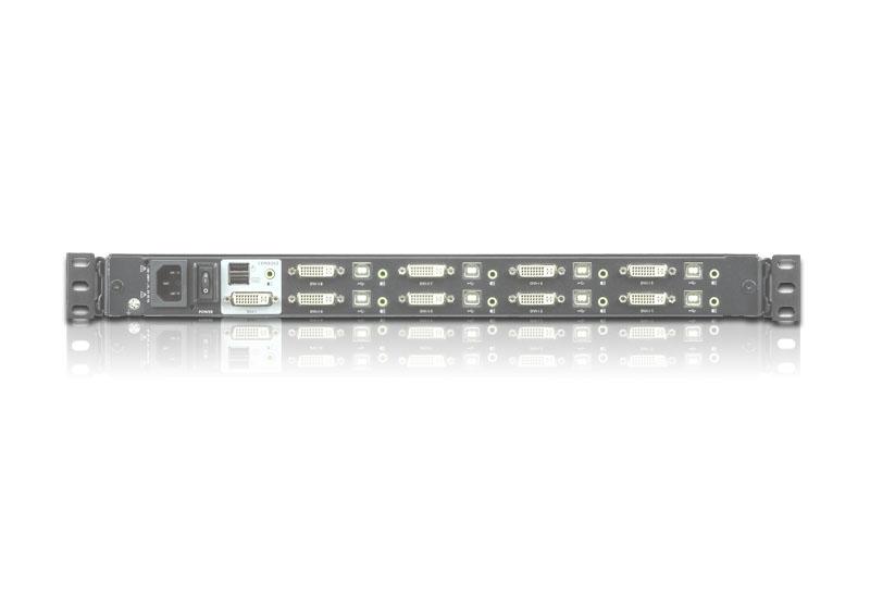 """ATEN CL6708MW - KVM-Konsole mit KVM-Switch - 8 Anschlüsse - USB - Französisch - 43.9 cm (17.3"""")"""