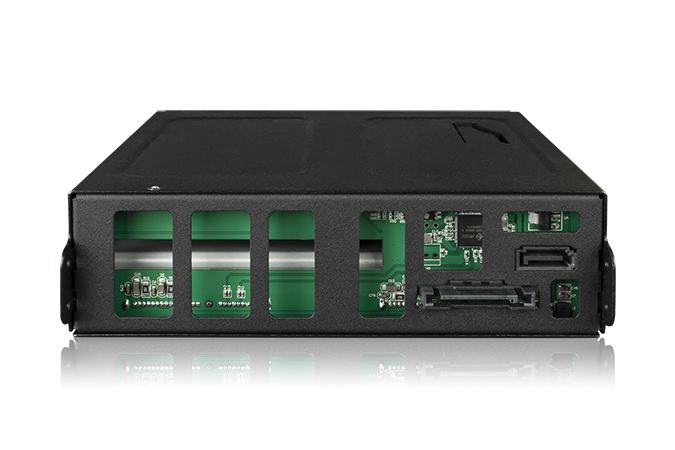 """Icy Dock ToughArmor MB902SPR-B - Internes RAID-Gehäuse mit Datenanzeige, Netzanzeige - 2.5"""" (6.4 cm)"""