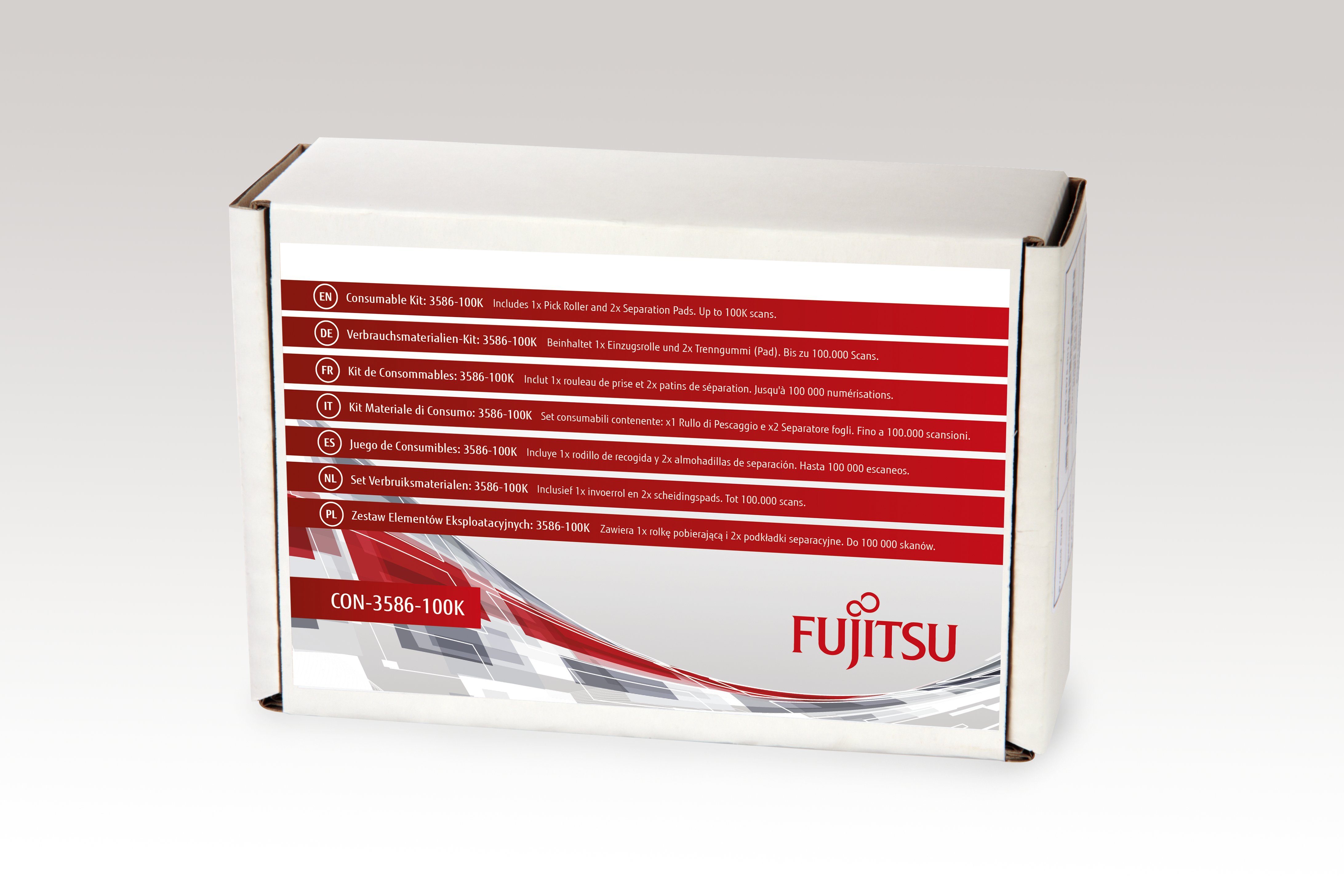 Fujitsu Consumable Kit: 3586-100K - Scanner - Verbrauchsmaterialienkit