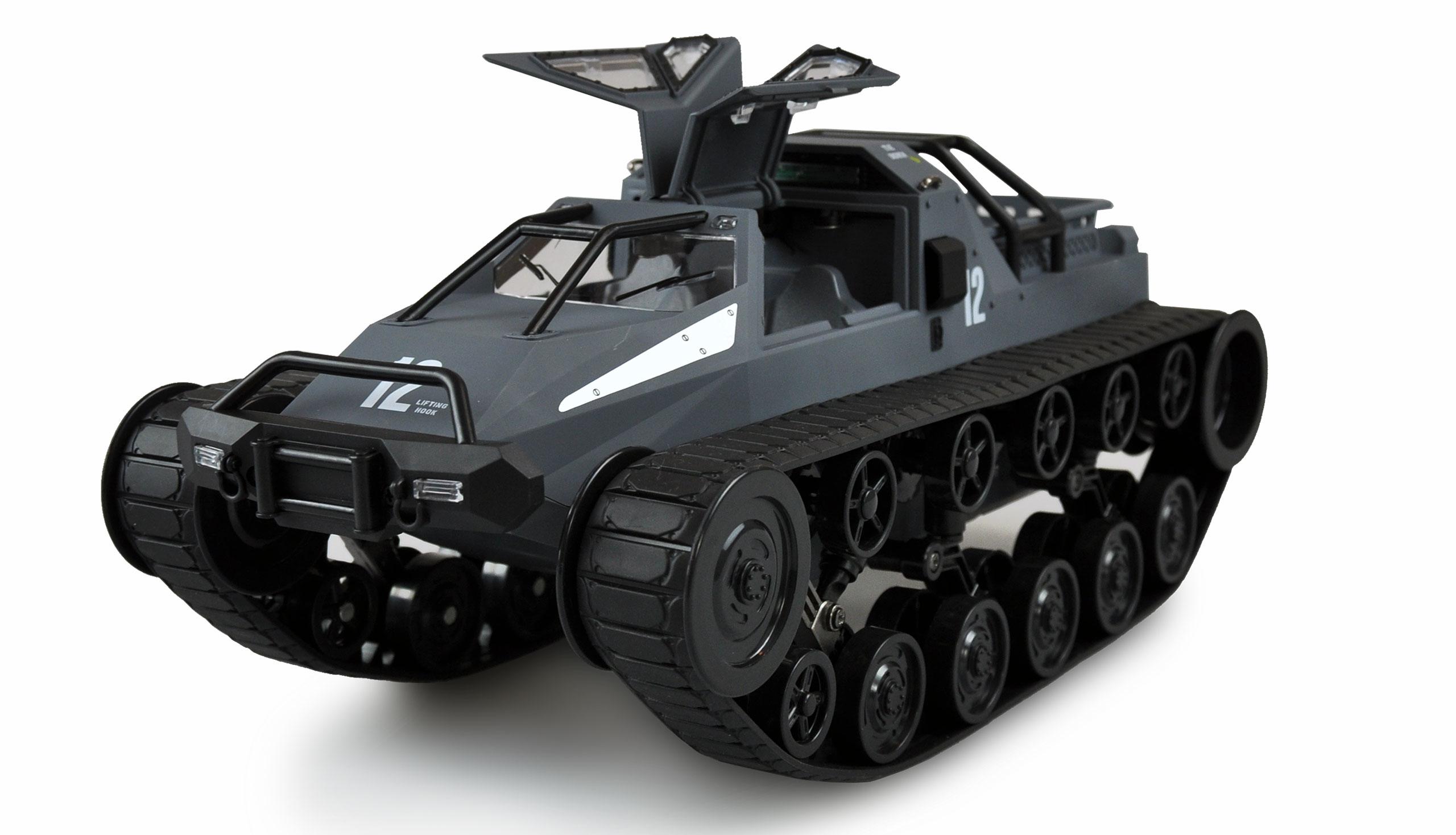 Amewi Military Police Kettenfahrzeug Grau - Elektromotor - 1:12 - Betriebsbereit (RTR) - Blau - Grau - Junge/Mädchen - 14 Jahr(e)