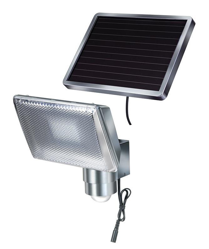 Brennenstuhl SOL 80 ALU IP44 - Wandbeleuchtung für den Außenbereich - Aluminium - Aluminium - IP44 - Garage - Garten - Bewegungssensor