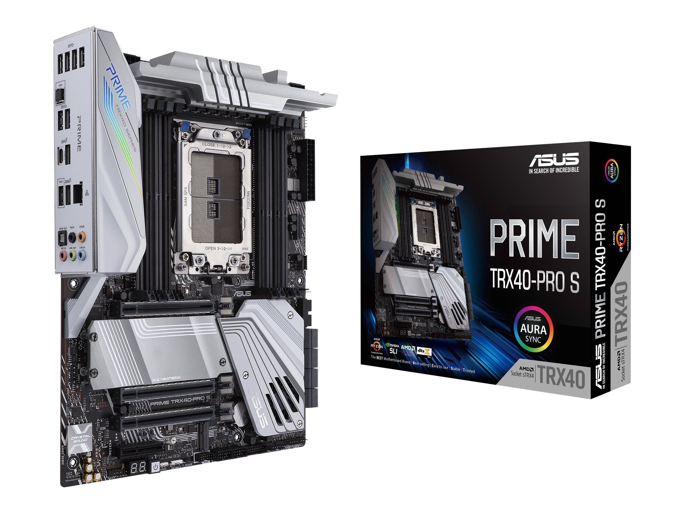 ASUS PRIME TRX40-PRO S - Motherboard - ATX - Socket sTRX4 - AMD TRX40 - USB-C Gen2, USB 3.2 Gen 1, USB 3.2 Gen 2 - Gigabit LAN - HD Audio (8-Kanal)