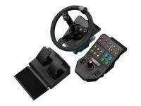 945-000007 Lenkrad + Pedale PC Schwarz Spiele-Controller