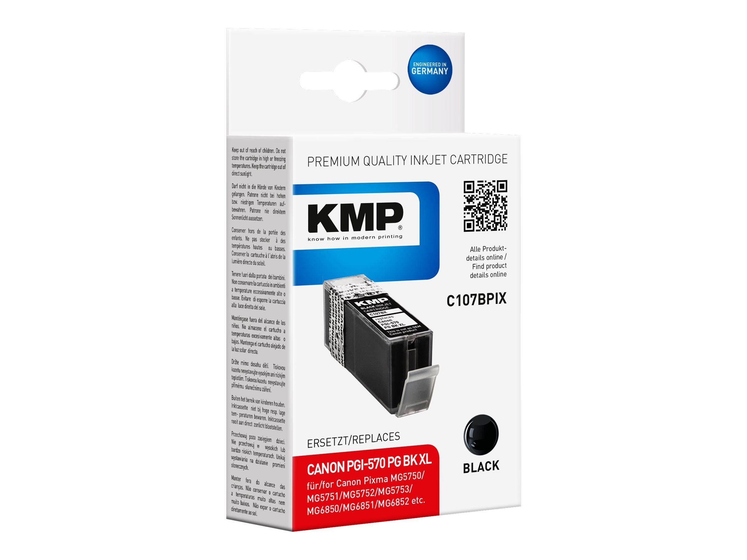 KMP C107BPIX - 22 ml - Hohe Ergiebigkeit - Schwarz