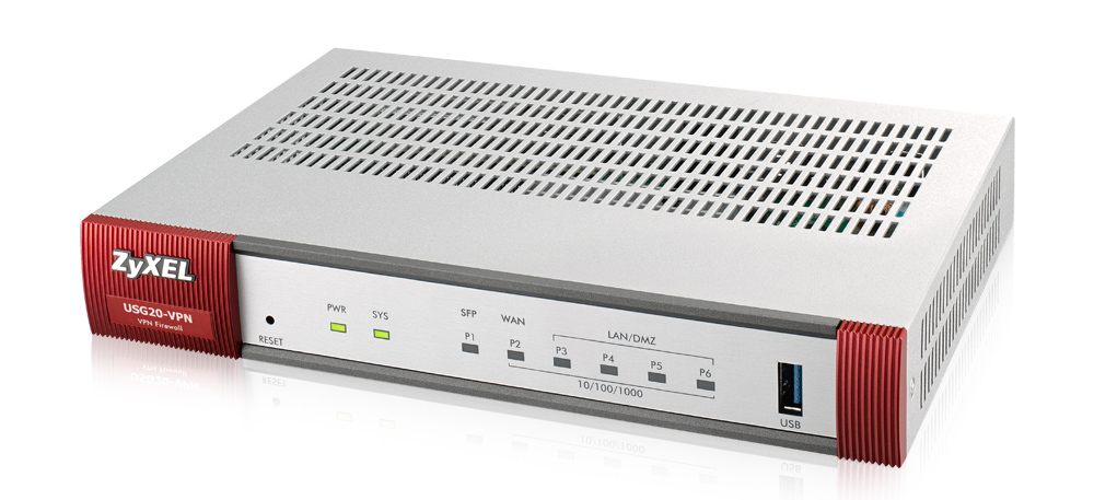 ZyXEL ZyWALL USG20-VPN-EU0101F - IEEE 802.3,IEEE 802.3ab,IEEE 802.3u - Gigabit Ethernet - 10/100/1000Base-T(X) - 10,100,1000 Mbit/s - SSID,SSL/TLS - 40,92 BTU/h