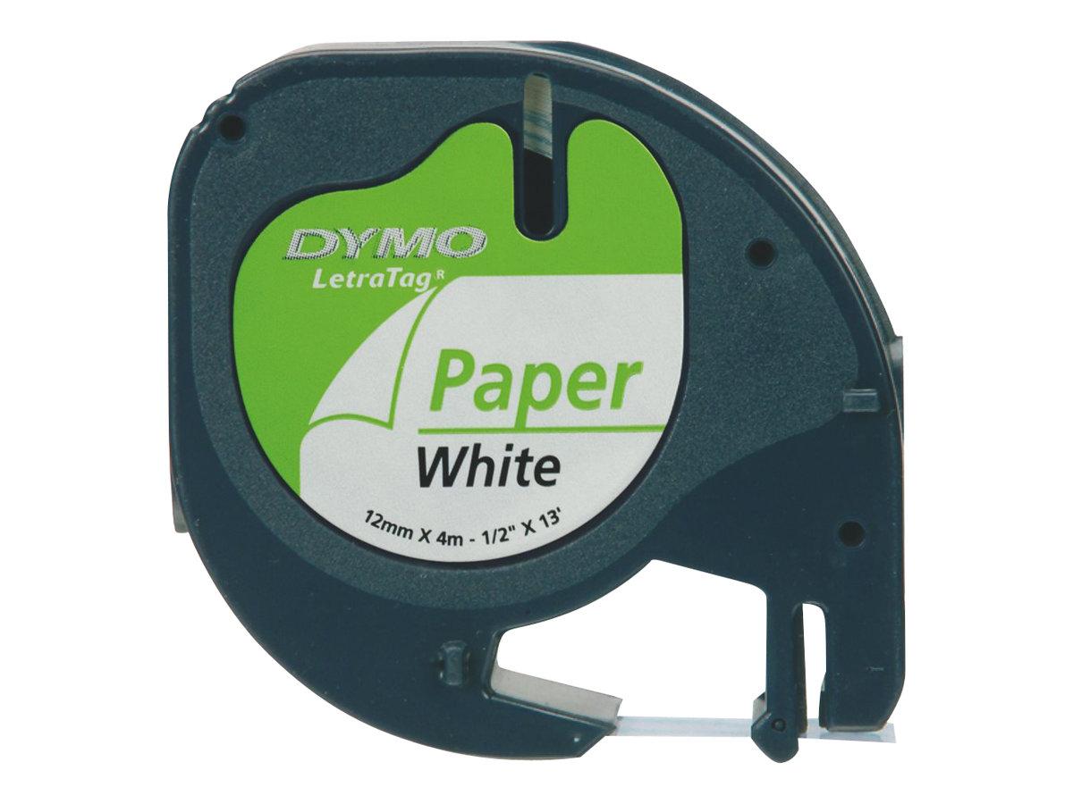 Dymo LetraTAG - Papier - Schwarz auf Weiß - Rolle (1,2 cm x 4 m)