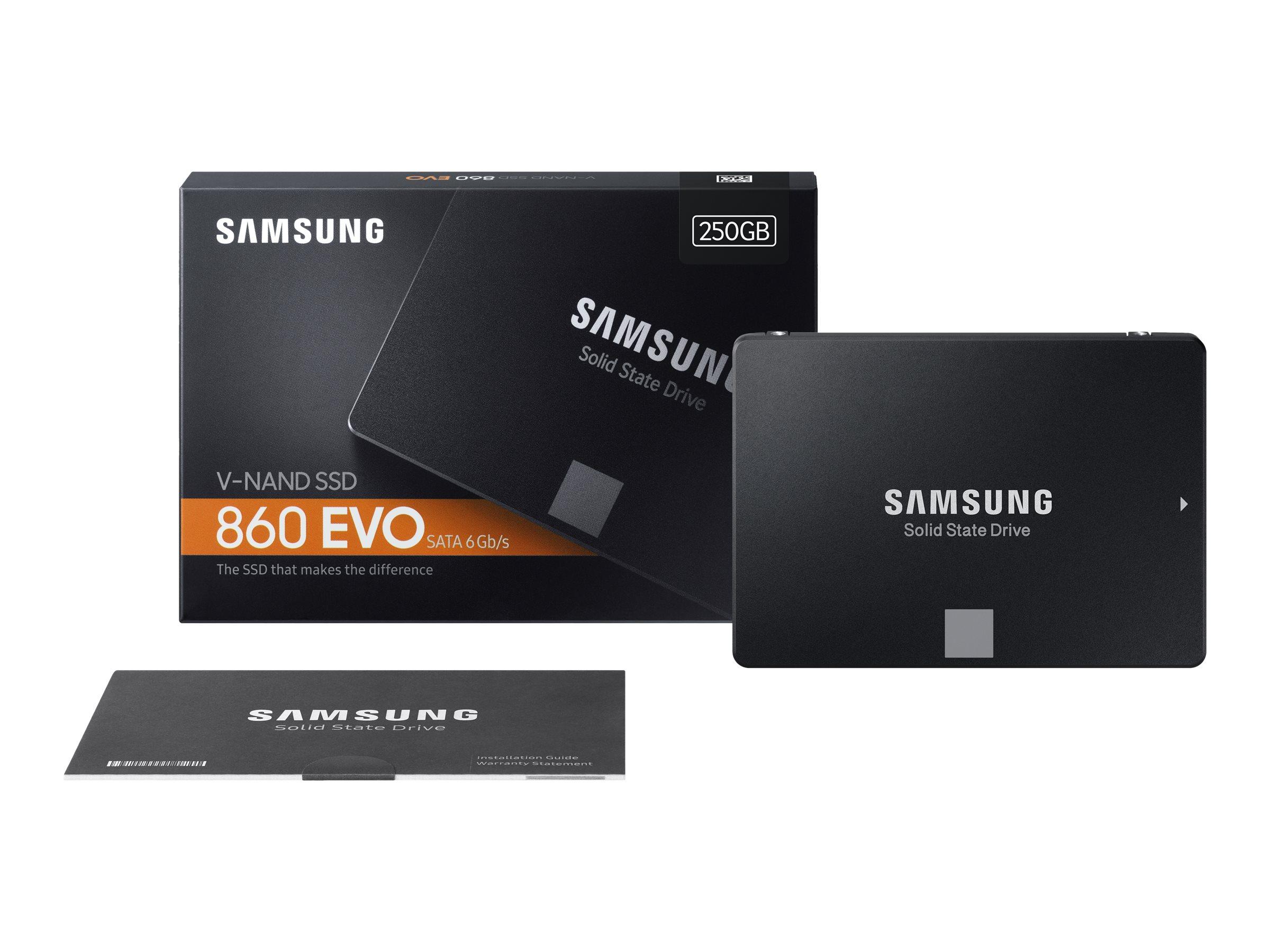 """Samsung 860 EVO MZ-76E250B - 250 GB SSD - intern - 2.5"""" (6.4 cm)"""