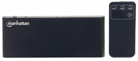 Manhattan HDMI Switch - Video/Audio-Schalter - 3 x HDMI