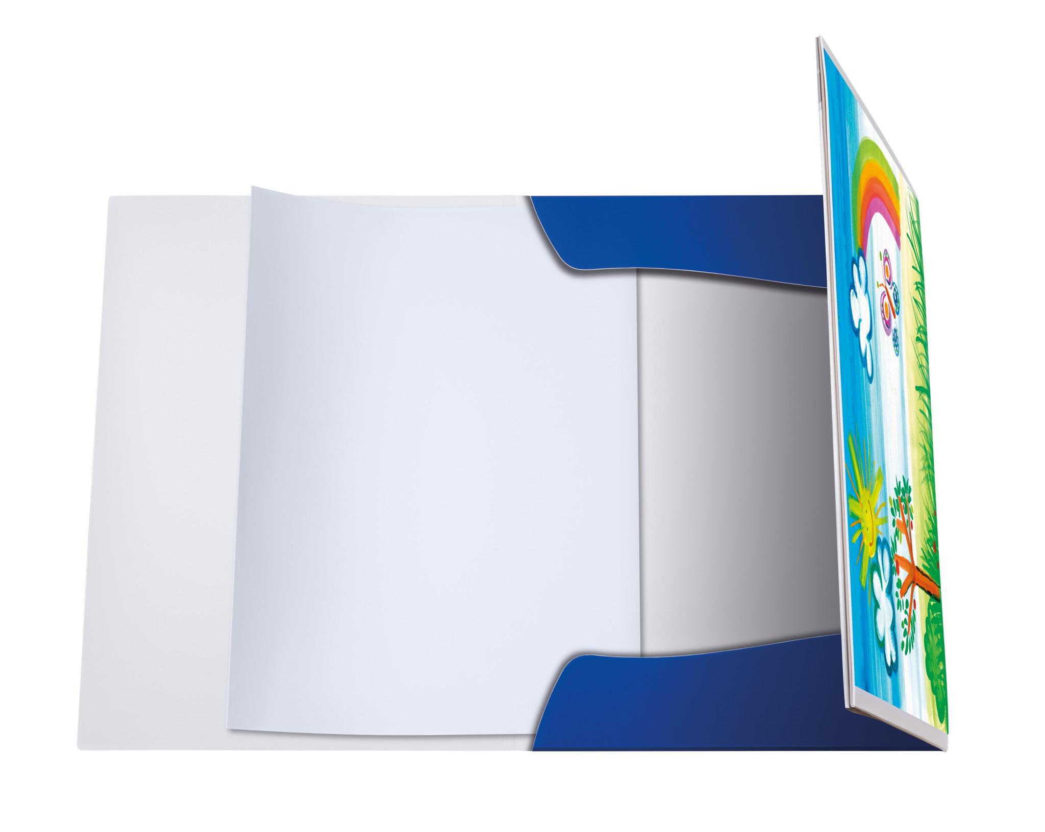Pelikan 238205 - A3 - Blau - Weiß - Landschaftsportrait - Gummiband