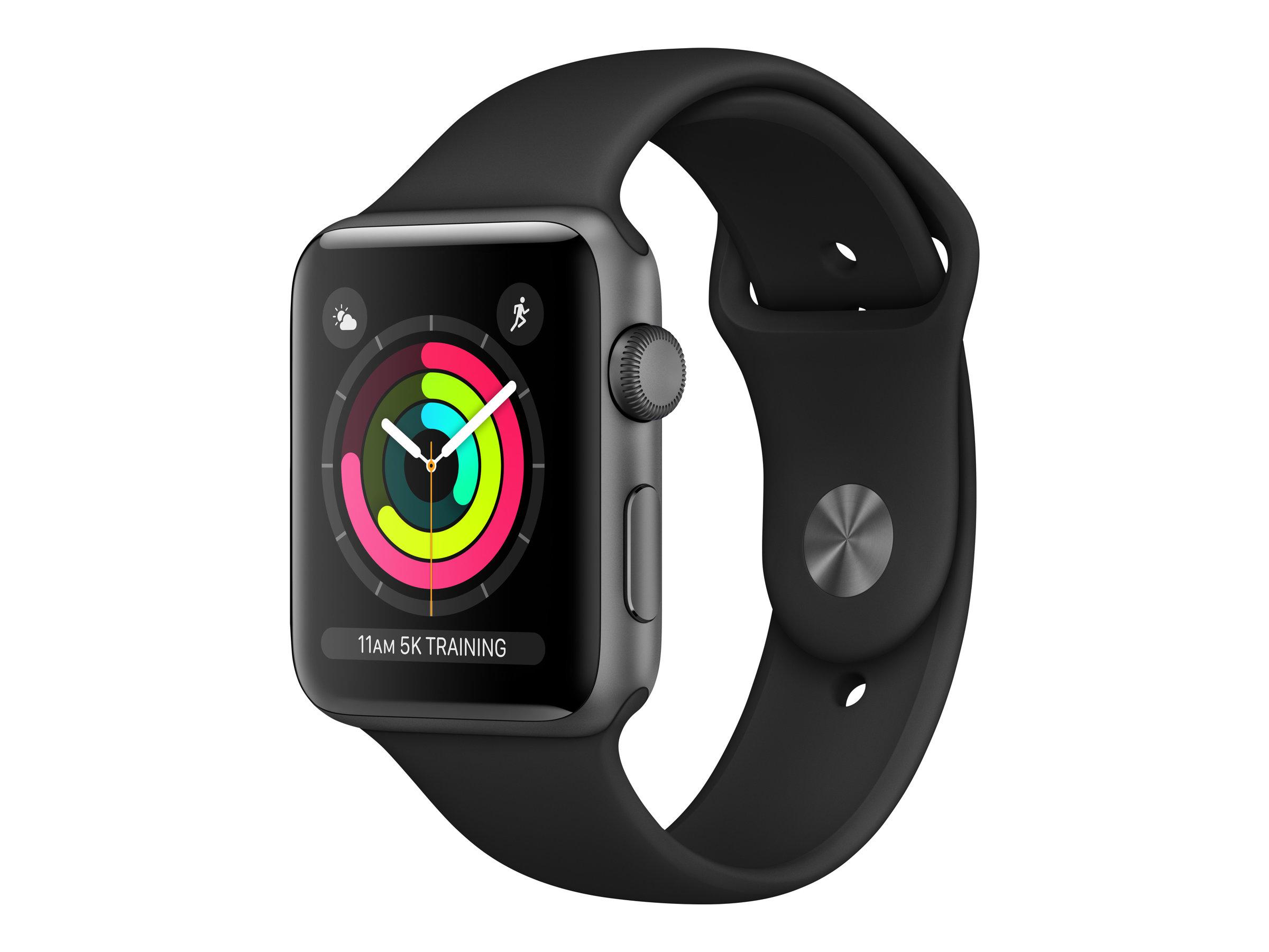 Apple Watch Series 3 (GPS) - 38 mm - Weltraum grau Aluminium